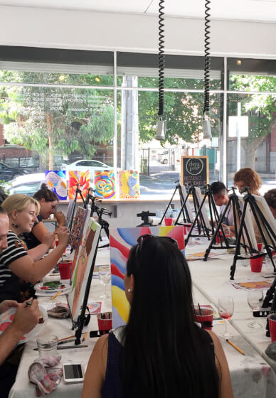 Acrylics Paint and Sip Class