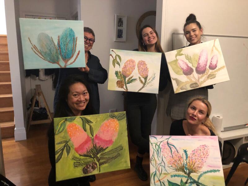Beginner's Acrylic Painting Class