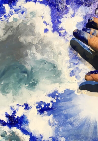 Boozy Finger Painting Class