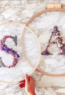 Botanical Embroidery Class