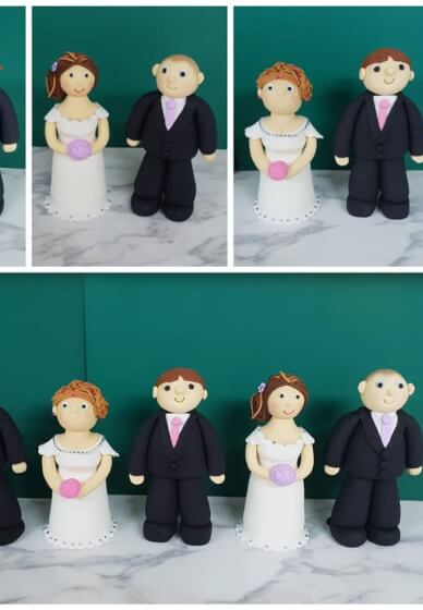 Bride and Groom Cake Topper Course