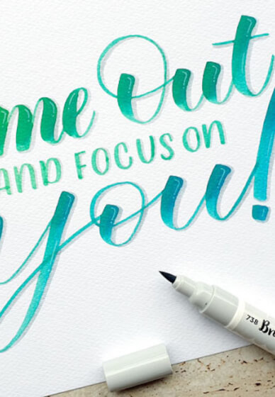 Brush Lettering Class for Beginners