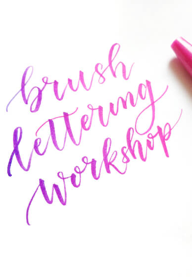 Brush Lettering for Tweens Class