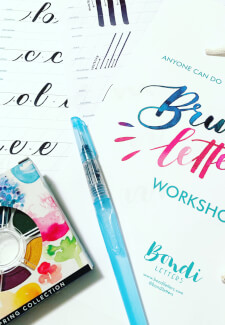 Brush Lettering with Watercolours