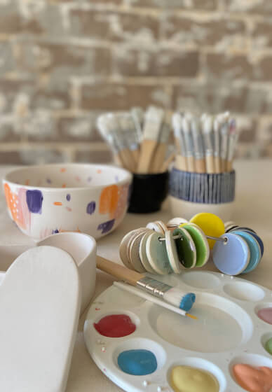 Ceramic Painting Class for Kids & Teens