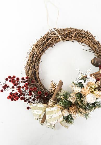 Christmas Dried Wreath Workshop