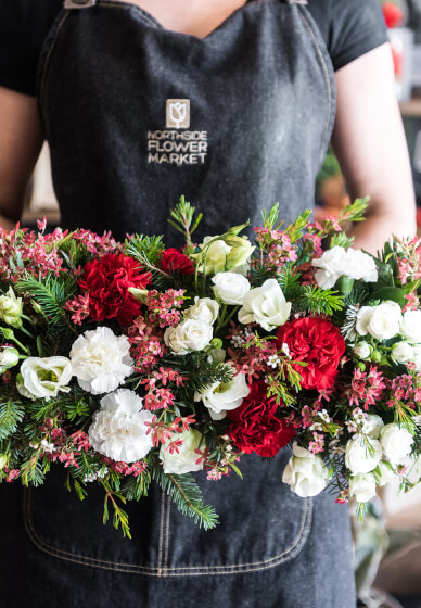 Christmas Floral Table Arrangement Workshop