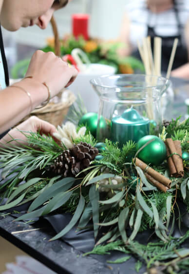 Christmas Table Wreath Workshop