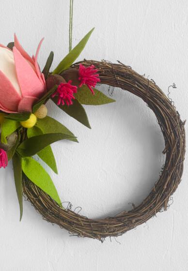 DIY Felt Native Floral Wreath