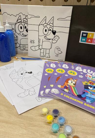 DIY Painting Craft Box / Kit for Kids: Bluey