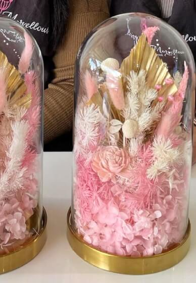 DIY Preserved and Dried Flower Glass Dome