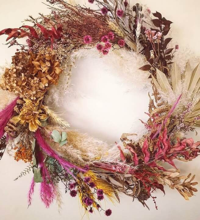 Everlasting Dried Flower Wall Hanging Workshop Canberra Classbento
