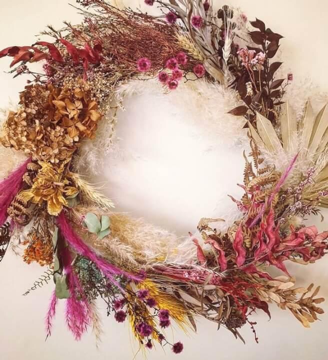 Everlasting Dried Flower Wall Hanging Workshop Melbourne Classbento