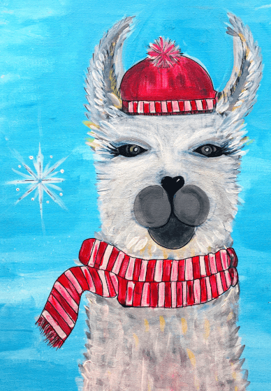 Family Painting Class: Wooly Llama
