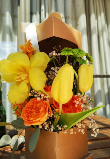 Floral Gift Box Class for Mothers Day
