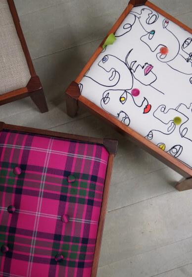 Footstool Upholstery Workshop
