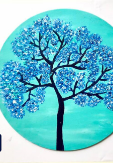 Free in Spirit Tree Acrylic Painting Class