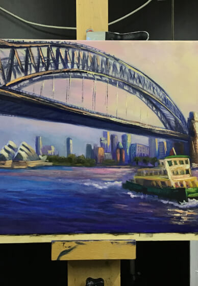 Full-day Oil Painting Class: Sydney Harbour