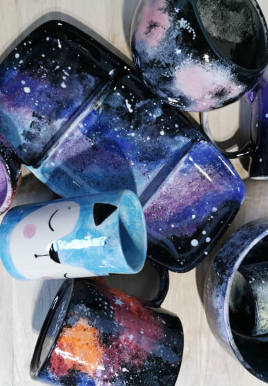 Galaxy Themed Ceramic Painting Class