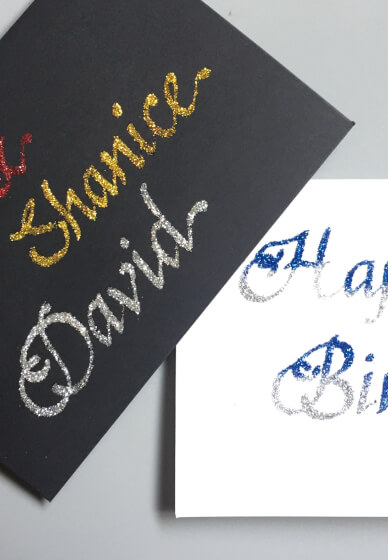 Glitter Calligraphy for Kids & Adults