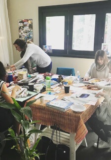 Group Vision Board Workshop with Friends