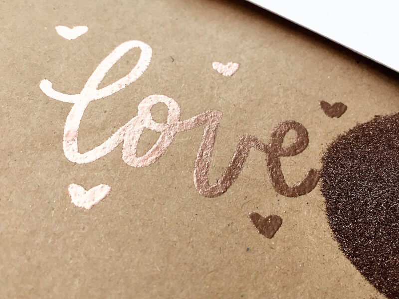 Heat Embossing and Brush Lettering Class