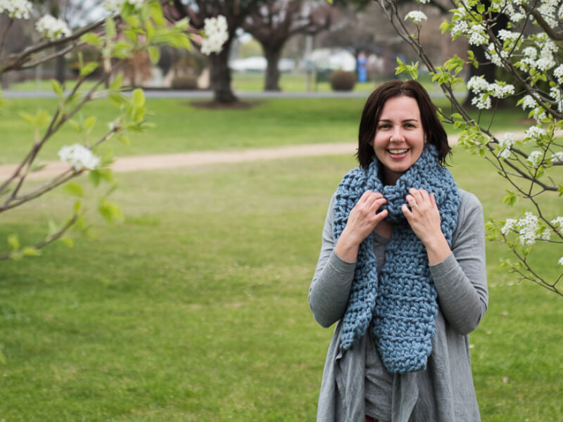 How to Crochet a Bliss Scarf