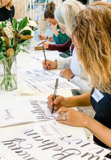 Introduction to Brush Lettering Class