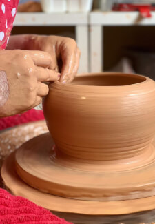 Introduction to Wheel Throwing Pottery Class