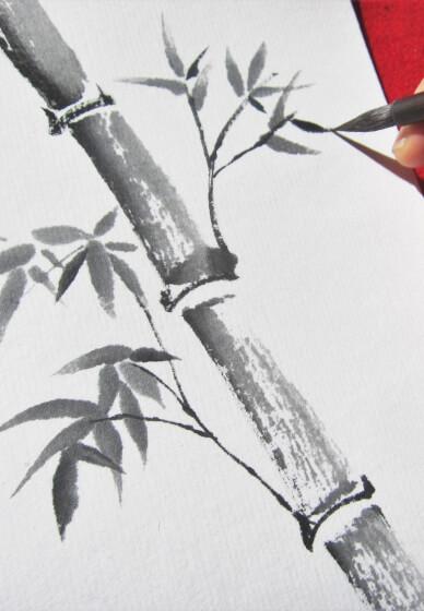 Japanese Ink Painting Workshop: Sumi-e