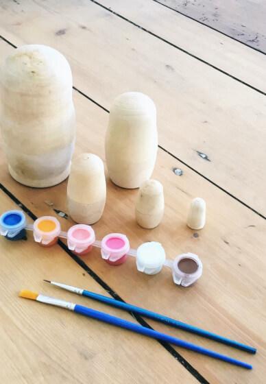 Kids Craft Class: Set of Nesting Dolls (7+ Years)