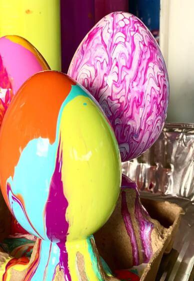 Kids Painted Easter Eggs Workshop