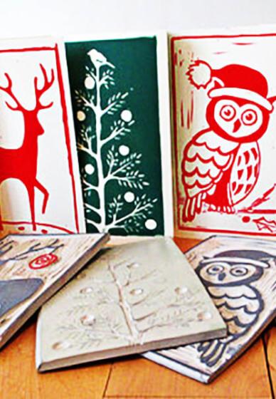 Lino Print-a-christmas Card Workshop