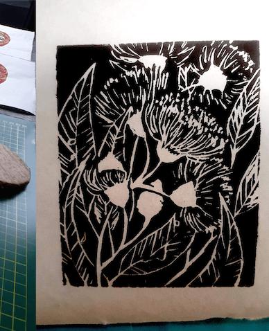 Linocut Printmaking Class
