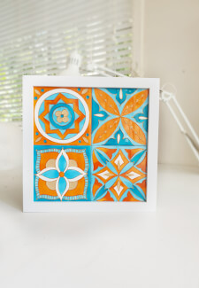 Make a Ceramic Tile Wall Art
