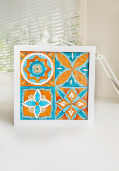 make a ceramic tile wall art live streaming class kit