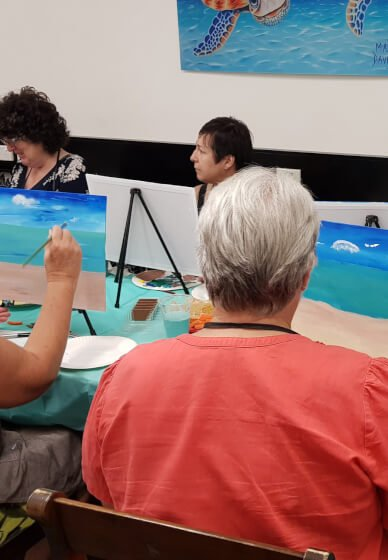 Mobile Paint and Sip Class