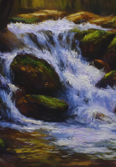 Oil Painting Class for Beginners: Waterfalls