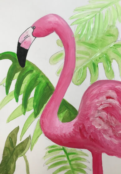 Paint a Flamingo at Home