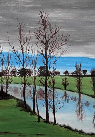 Paint and Sip Art Party: Peaceful Reflection