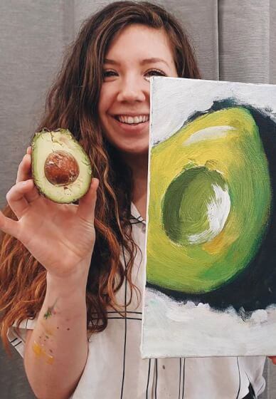 Paint and Sip Class: Acrylic Avocados