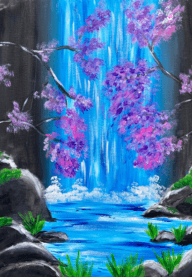 Paint and Sip Class: Acrylic Waterfall