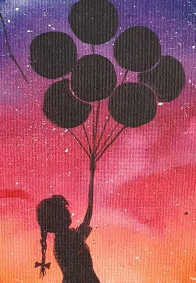 Paint and Sip Class: Banksy Balloon Girl - Berwick