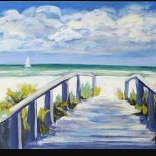 Paint and Sip Class - Beach Day (Oct 23)