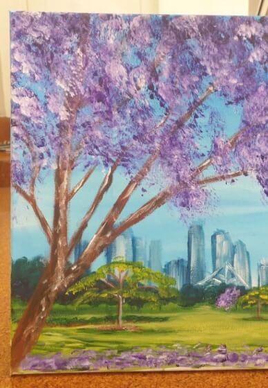 Paint and Sip Class: Beautiful Jacarandas