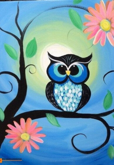 Paint and Sip Class: Blue Owl