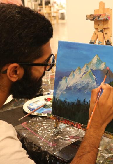 Paint and Sip Class: Bob Ross Mountains