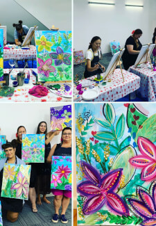 Paint and Sip Class - Botanical Wonderland