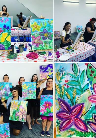 Paint and Sip Class - Botanical Wonderland