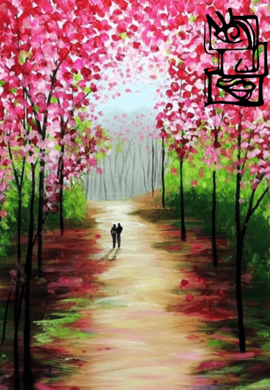 Paint and Sip Class: Cherry Blossoms